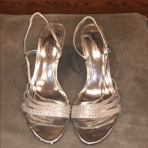 Lulú Townsend Strappy Silver Diamond Sandals